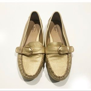 """G.H Bass Gold """"Betsy"""" Driving Loafer"""